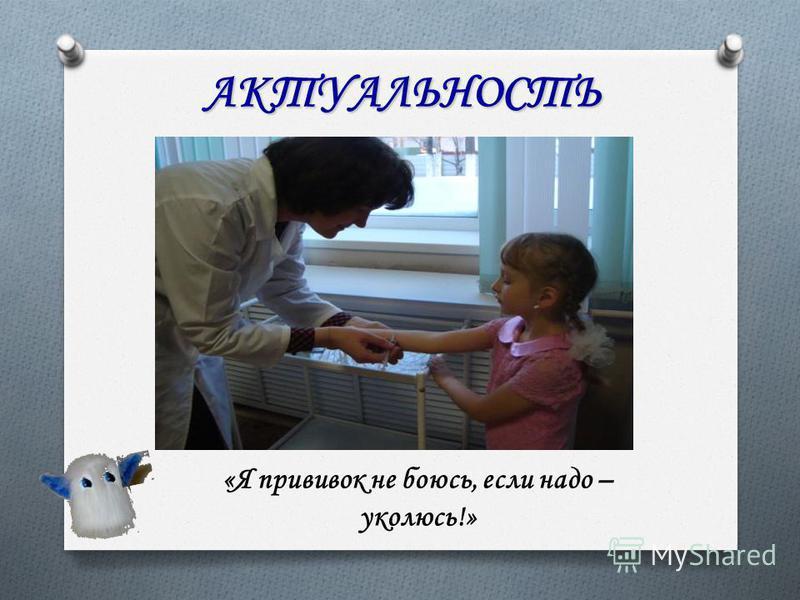 АКТУАЛЬНОСТЬ «Я прививок не боюсь, если надо – уколюсь!»