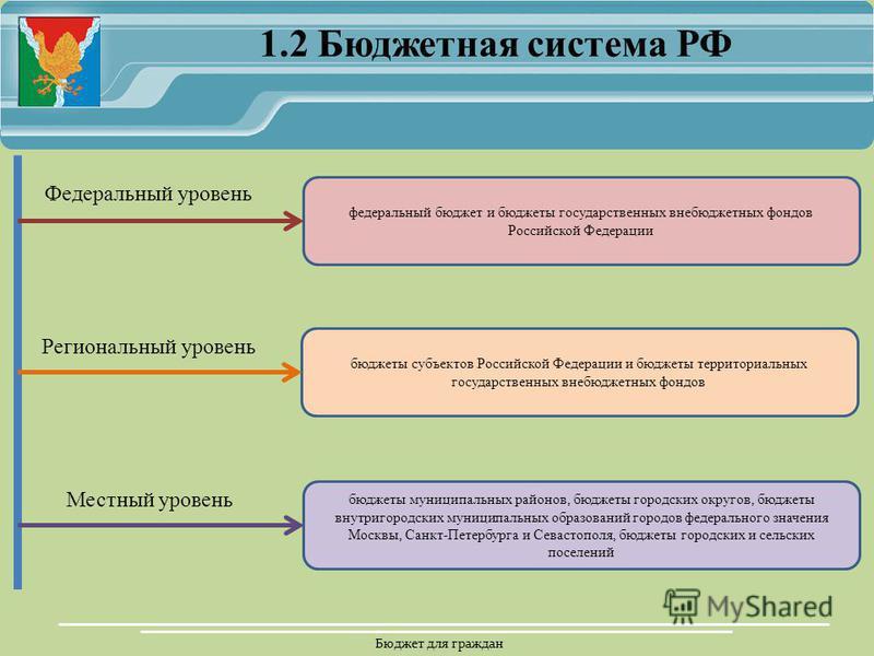 Бюджет для граждан федеральный бюджет и бюджеты государственных внебюджетных фондов Российской Федерации бюджеты субъектов Российской Федерации и бюджеты территориальных государственных внебюджетных фондов бюджеты муниципальных районов, бюджеты город