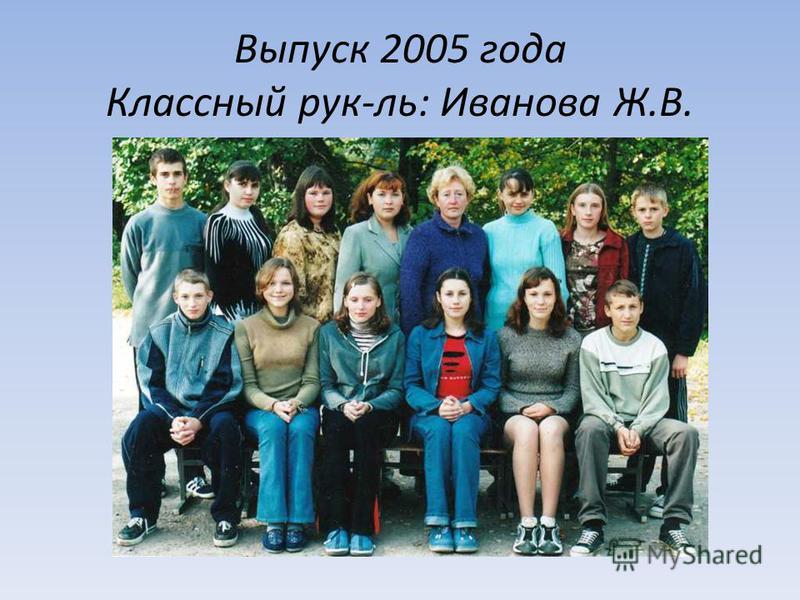 Выпуск 2005 года Классный рук-ль: Иванова Ж.В.