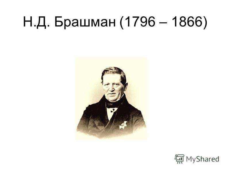 Н.Д. Брашман (1796 – 1866)