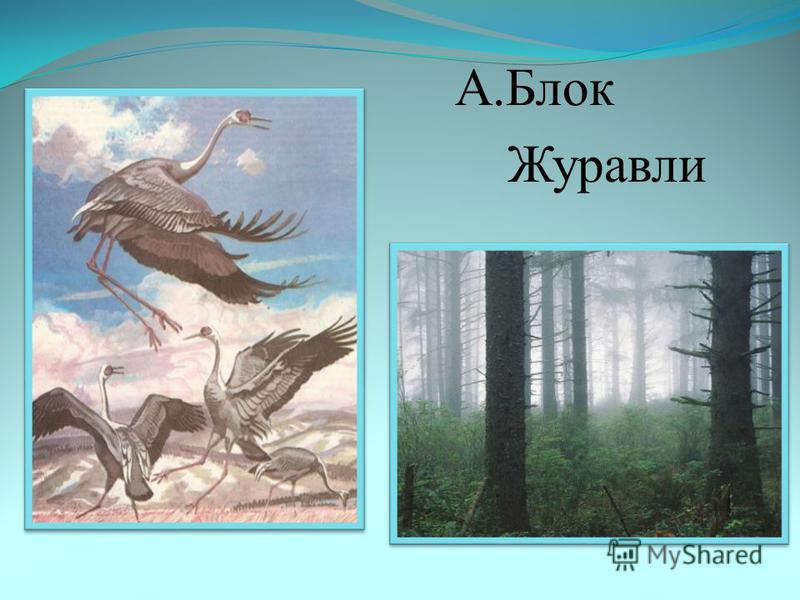 А.Блок Журавли