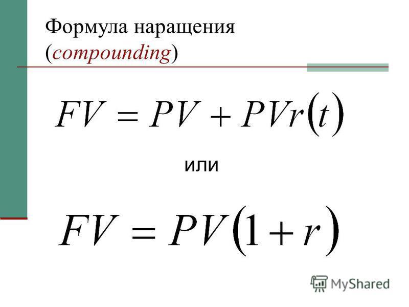 Формула наращения (compounding) или