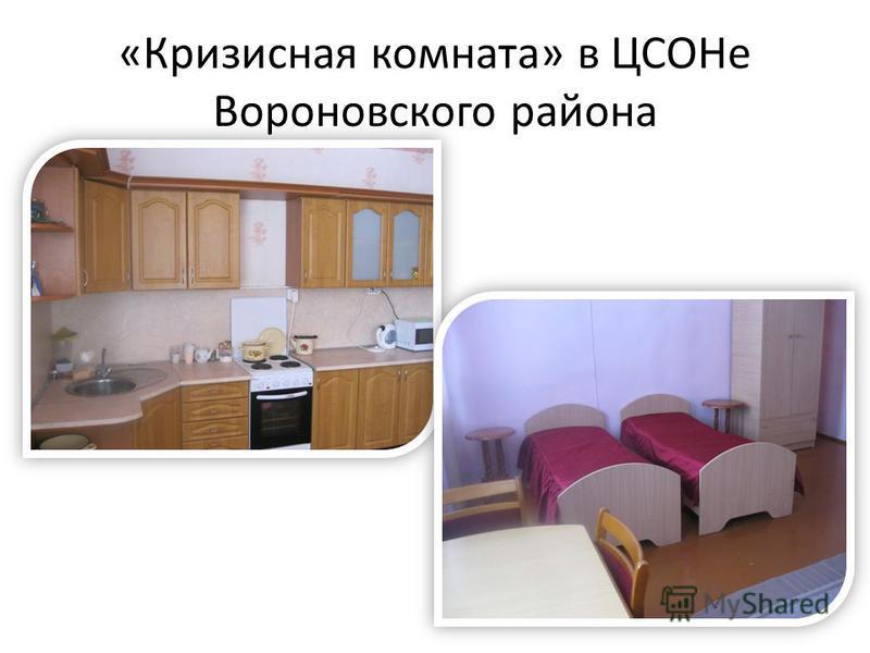 «Кризисная комната» в ЦСОНе Вороновского района