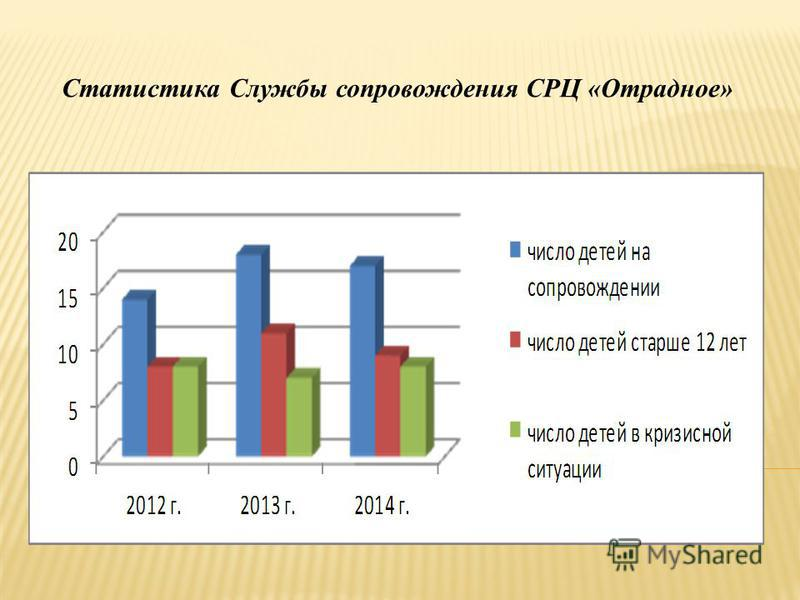 Статистика Службы сопровождения СРЦ «Отрадное»