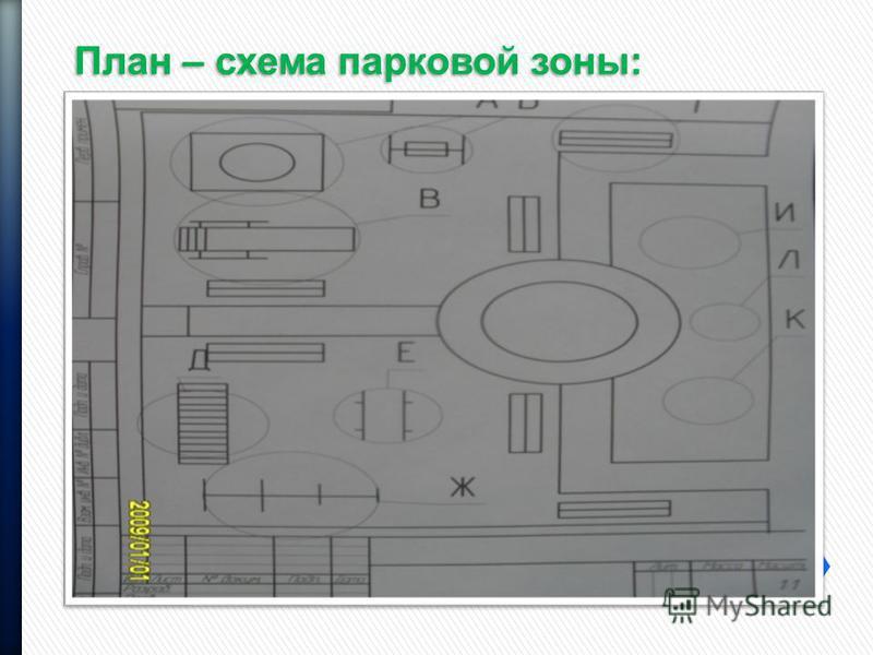 План – схема парковой зоны: