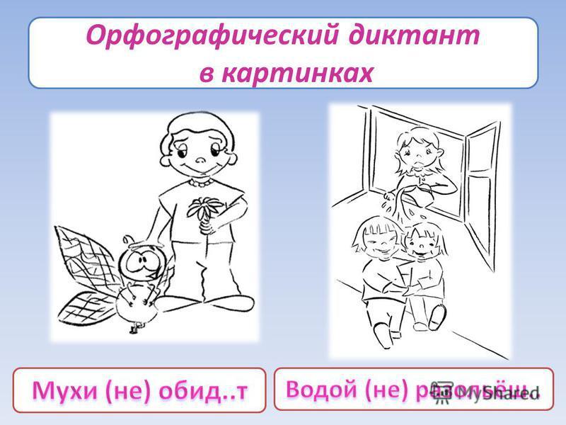 Орфографический диктант в картинках
