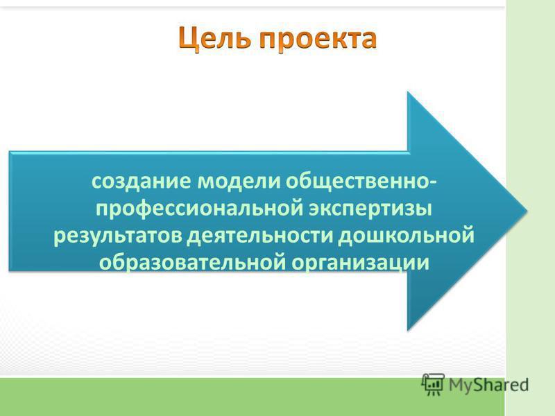 создание модели общественно- профессиональной экспертизы результатов деятельности дошкольной образовательной организации