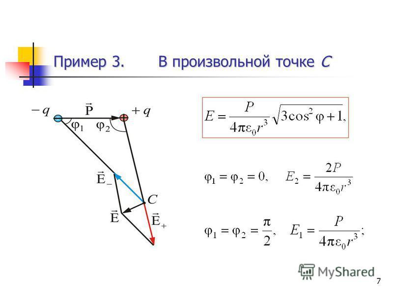 7 Пример 3. В произвольной точке С