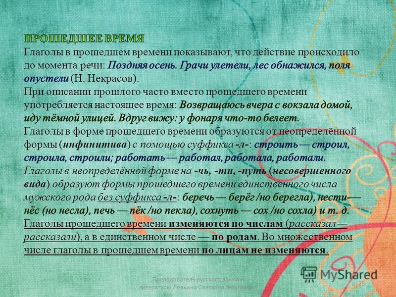 25 Преподаватель русского языка и литературы Левкина Светлана Георгиевна