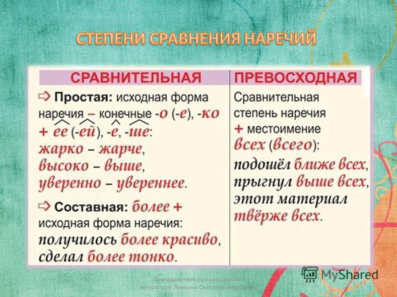 33 Преподаватель русского языка и литературы Левкина Светлана Георгиевна