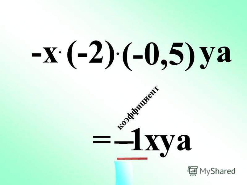 = хуa 1 2 4 х уaуa 0,125 к о э ф ф и ц и е н т