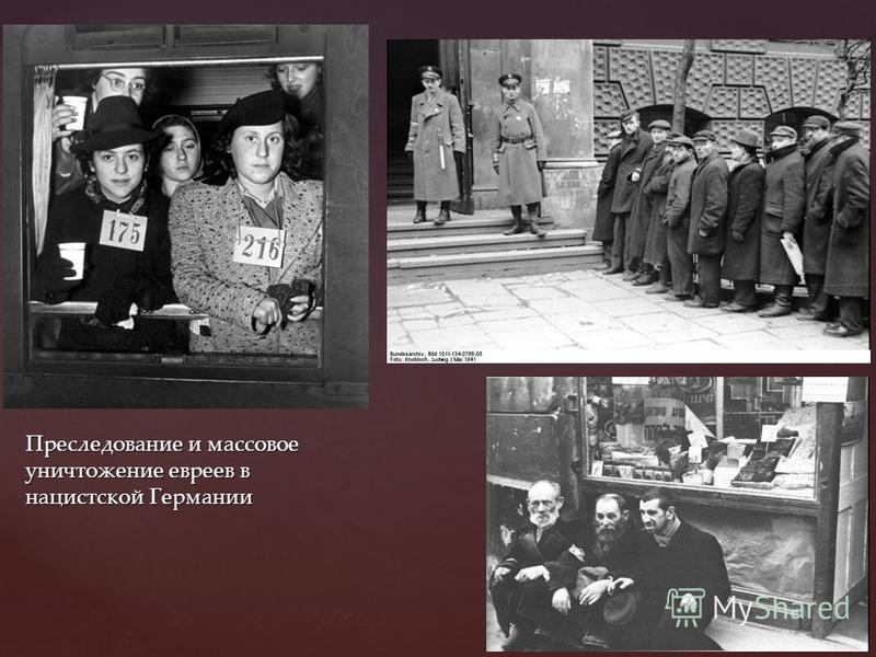 Преследование и массовое уничтожение евреев в нацистской Германии
