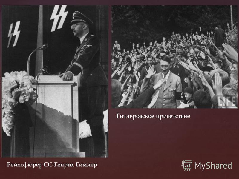 Рейхсфюрер СС-Генрих Гимлер Гитлеровское приветствие