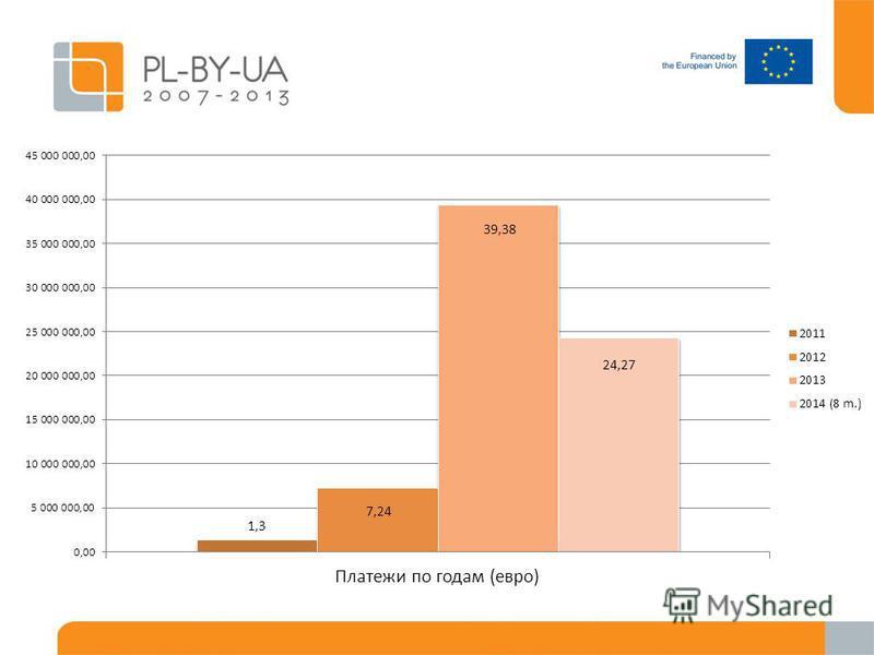 Платежи по годам (евро)