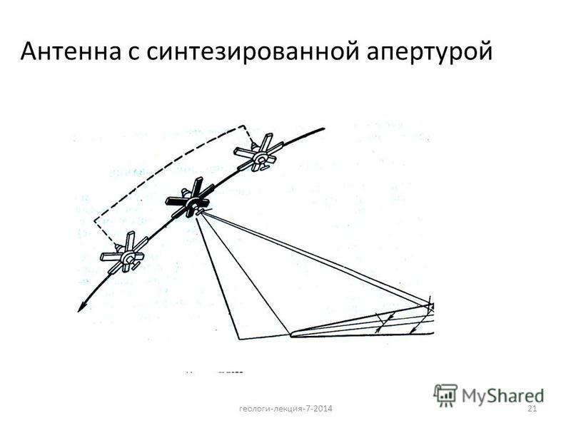 21 Антенна с синтезированной апертурой геологи-лекция-7-2014