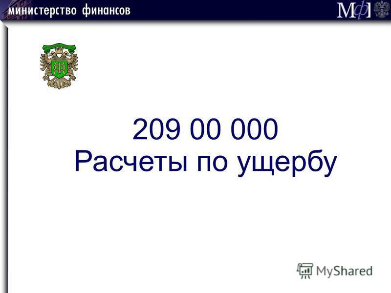 209 00 000 Расчеты по ущербу