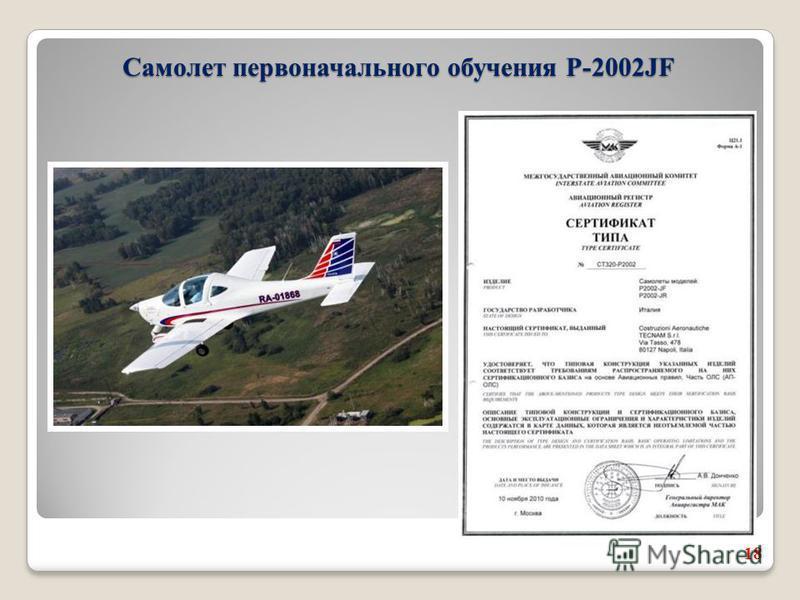 18 Самолет первоначального обучения Р-2002JF