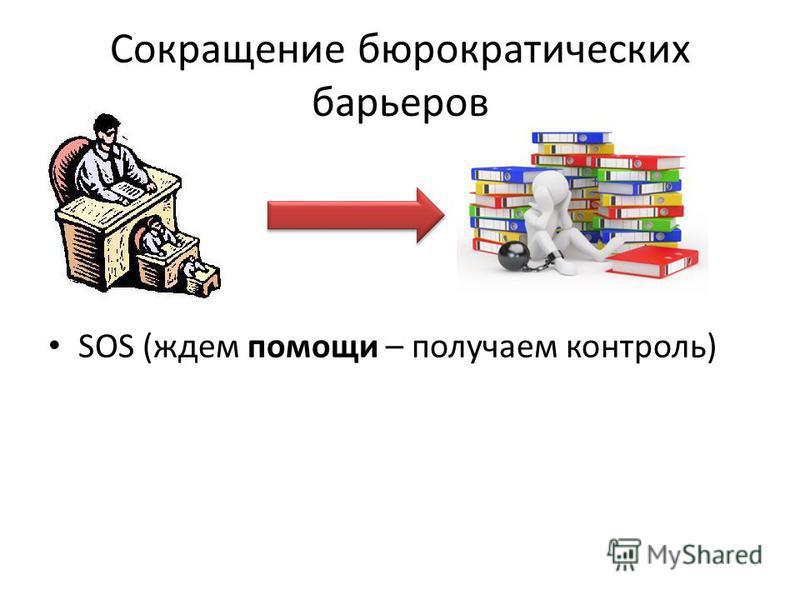 Сокращение бюрократических барьеров SOS (ждем помощи – получаем контроль)
