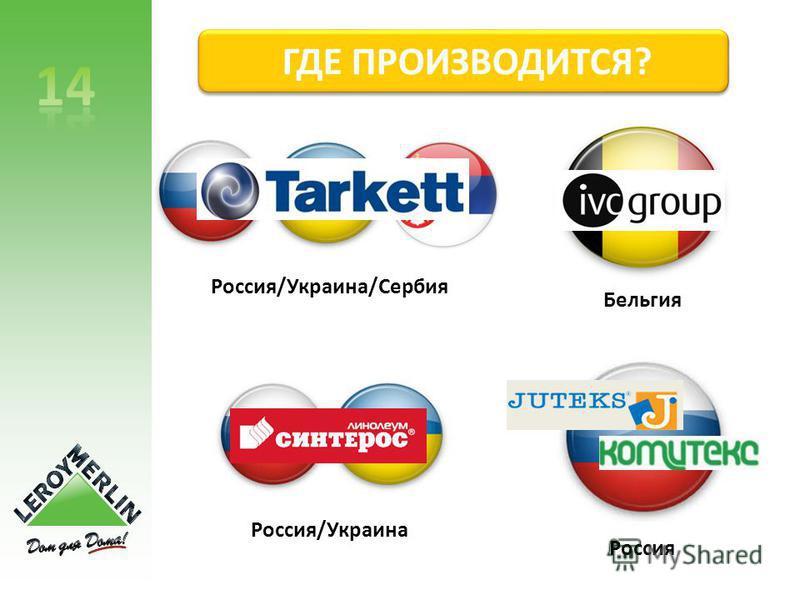 ГДЕ ПРОИЗВОДИТСЯ? Россия/Украина/Сербия Россия/Украина Бельгия Россия