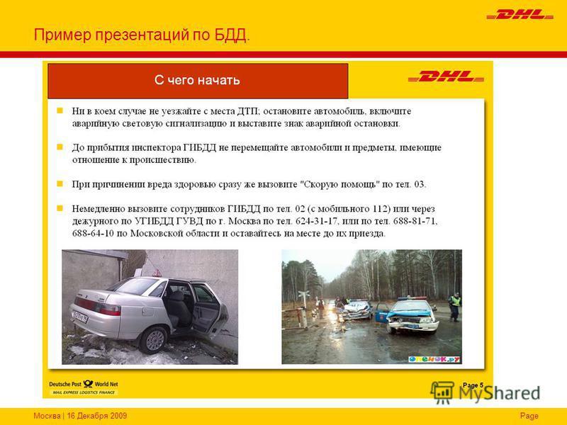 Москва | 16 Декабря 2009Page Пример презентаций по БДД.