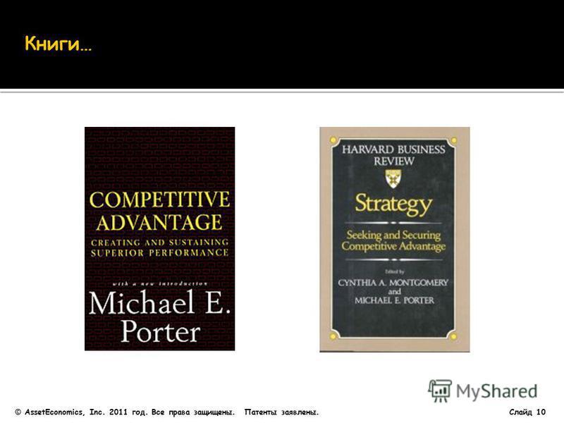 Слайд 10 © AssetEconomics, Inc. 2011 год. Все права защищены. Патенты заявлены.