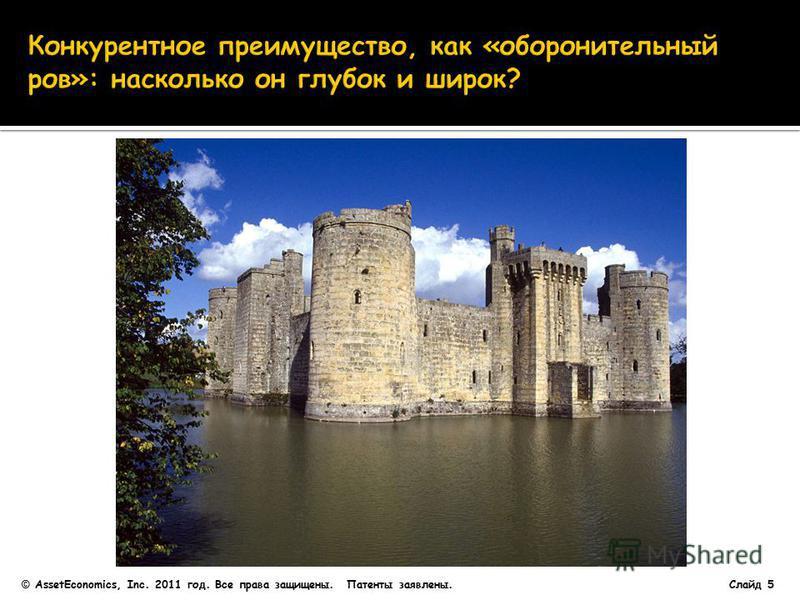 Слайд 5 © AssetEconomics, Inc. 2011 год. Все права защищены. Патенты заявлены.