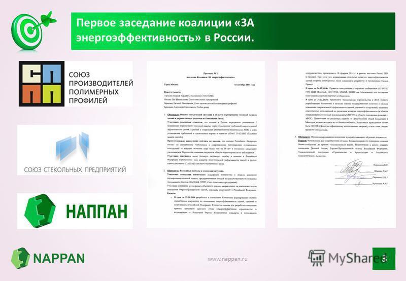 Первое заседание коалиции «ЗА энергоэффективность» в России. 3 www.nappan.ru