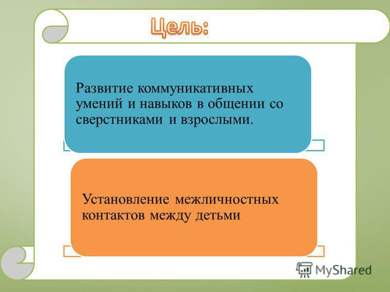 Развитие коммуникативных умений и навыков в общении со сверстниками и взрослыми. Установление межличностных контактов между детьми
