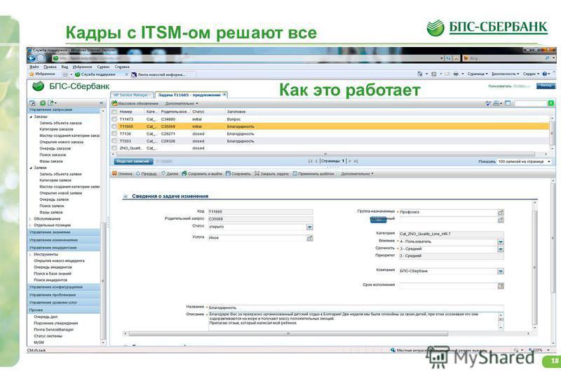18 Кадры с ITSM-ом решают все Как это работает