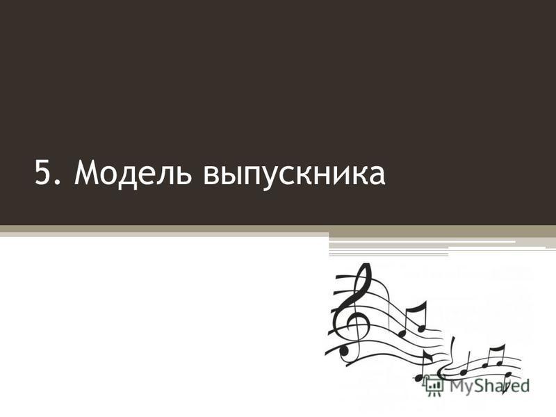5. Модель выпускника