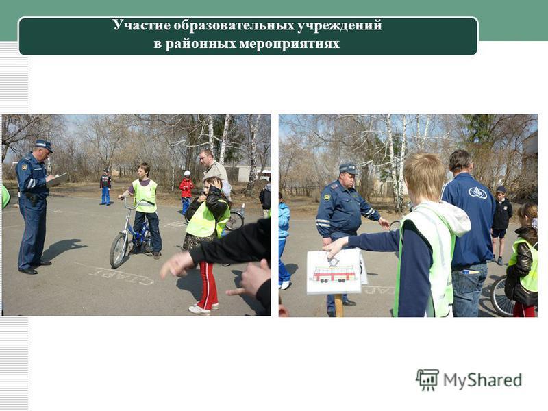 Участие образовательных учреждений в районных мероприятиях