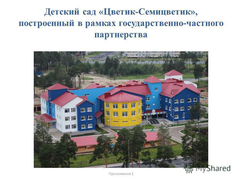 Детский сад «Цветик-Семицветик», построенный в рамках государственно-частного партнерства Приложение 1