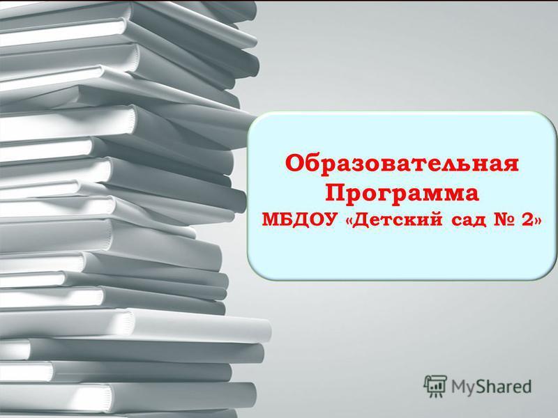 Образовательная Программа МБДОУ «Детский сад 2»