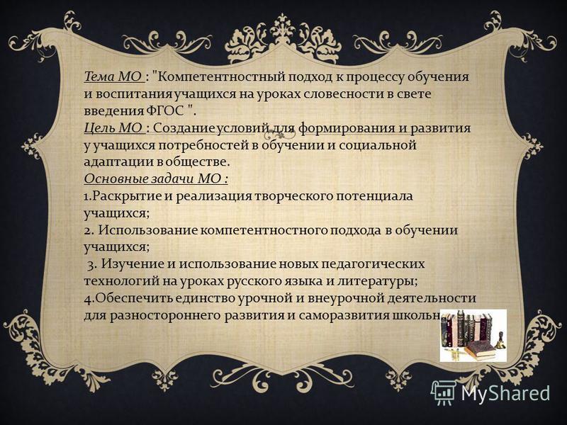 Тема МО :