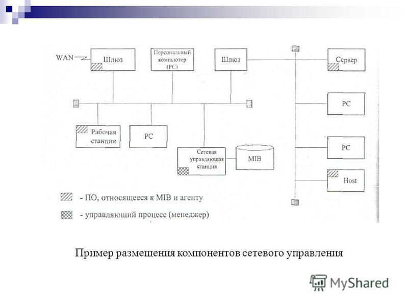 Пример размещения компонентов сетевого управления