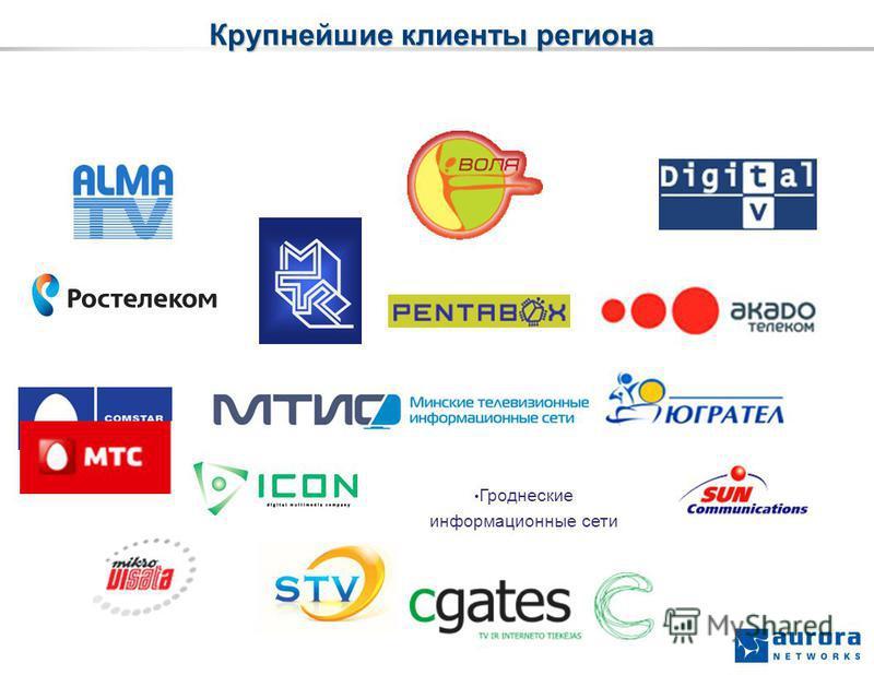 Крупнейшие клиенты региона Гроднеские информационные сети