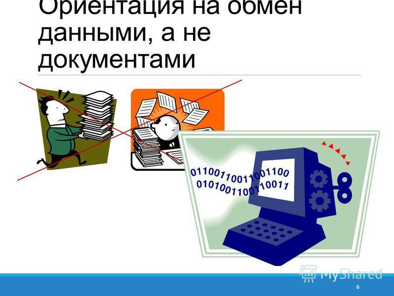 Ориентация на обмен данными, а не документами 6