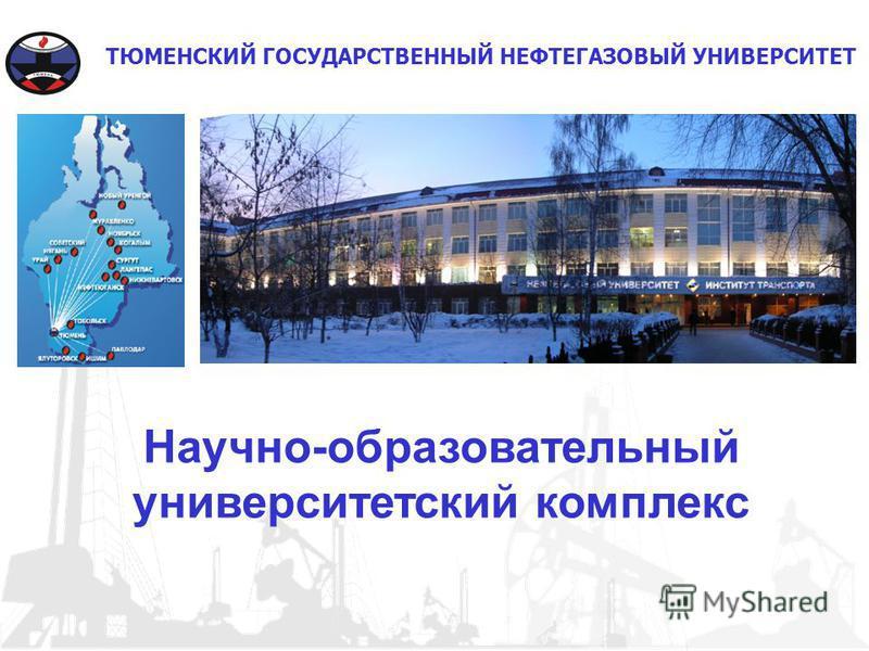 ТЮМЕНСКИЙ ГОСУДАРСТВЕННЫЙ НЕФТЕГАЗОВЫЙ УНИВЕРСИТЕТ Научно-образовательный университетский комплекс