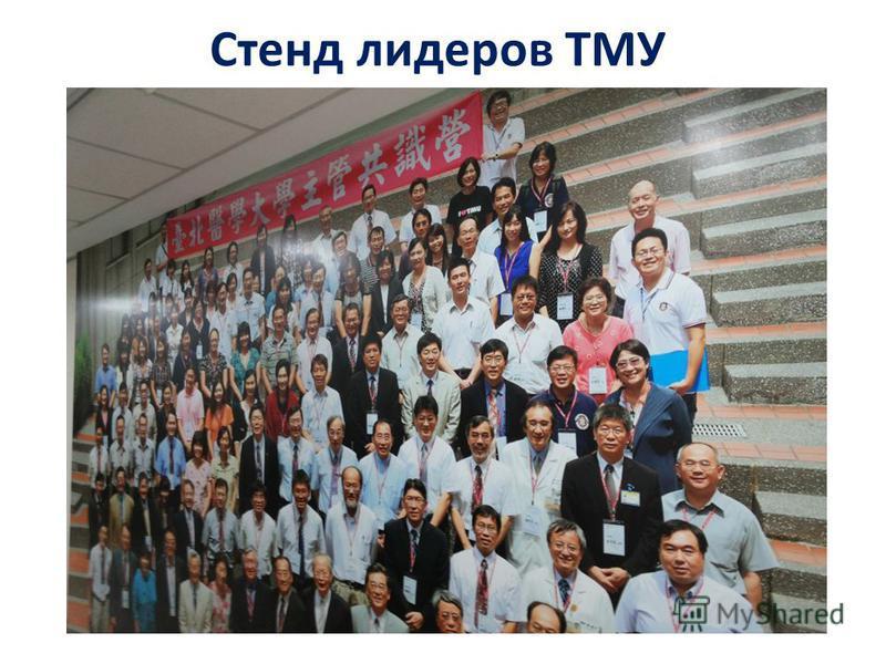Стенд лидеров ТМУ