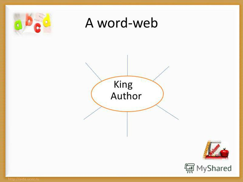 A word-web King Author