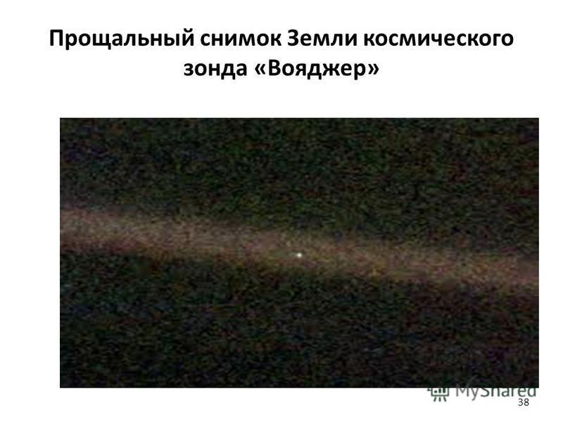 Прощальный снимок Земли космического зонда «Вояджер» 38
