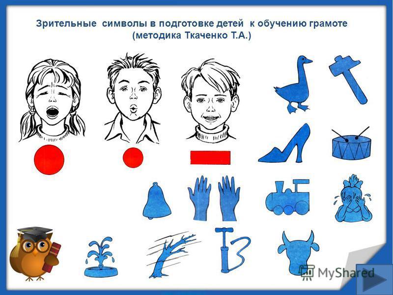 Зрительные символы в подготовке детей к обучению грамоте (методика Ткаченко Т.А.)
