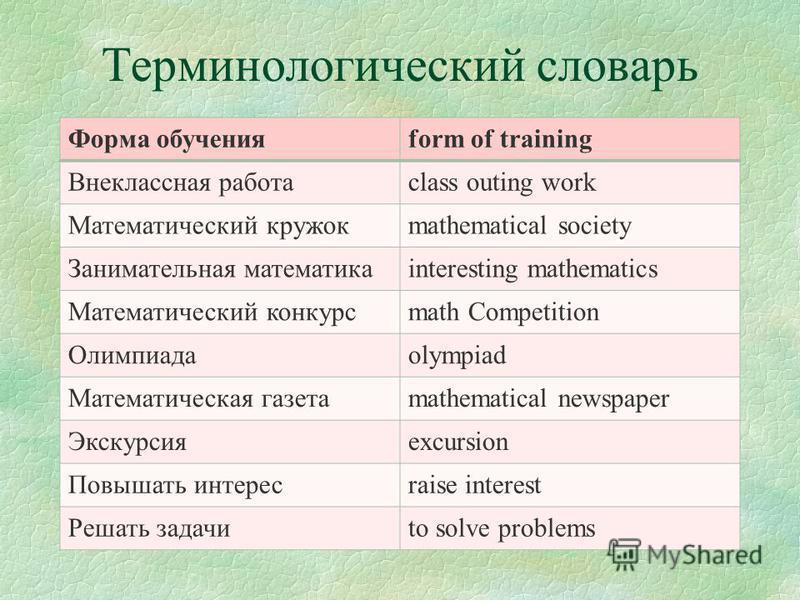 План: 1. Внеклассные формы обучения математике в начальных классах 2. Виды внеклассной работы по математике в начальных классах 3. Отличие классной формы обучения от внеклассной