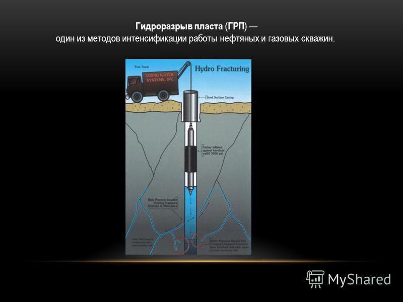 Гидроразрыв пласта ( ГРП ) один из методов интенсификации работы нефтяных и газовых скважин.