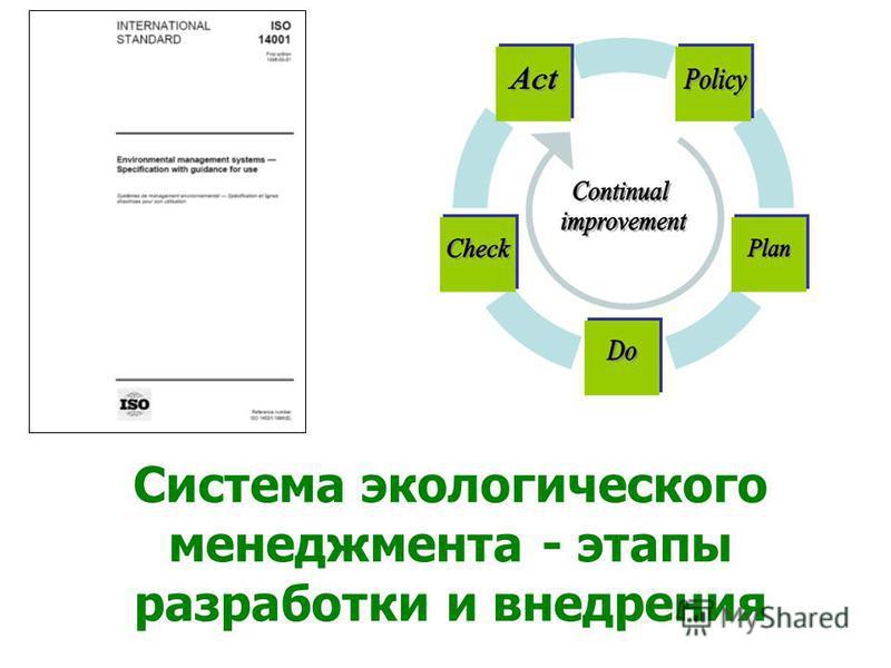 Система экологического менеджмента - этапы разработки и внедрения