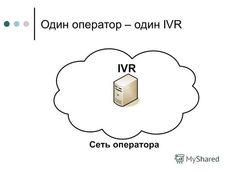 Один оператор – один IVR