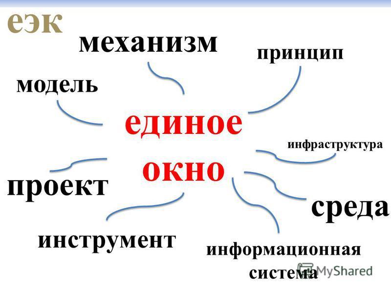 еэк единое окно инструмент механизм принцип информационная система модель инфраструктура проект среда