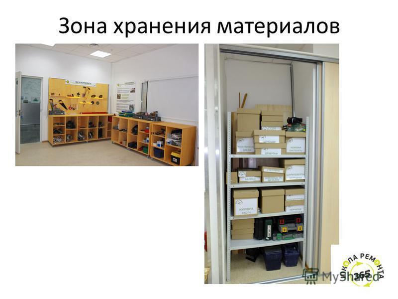Зона хранения материалов