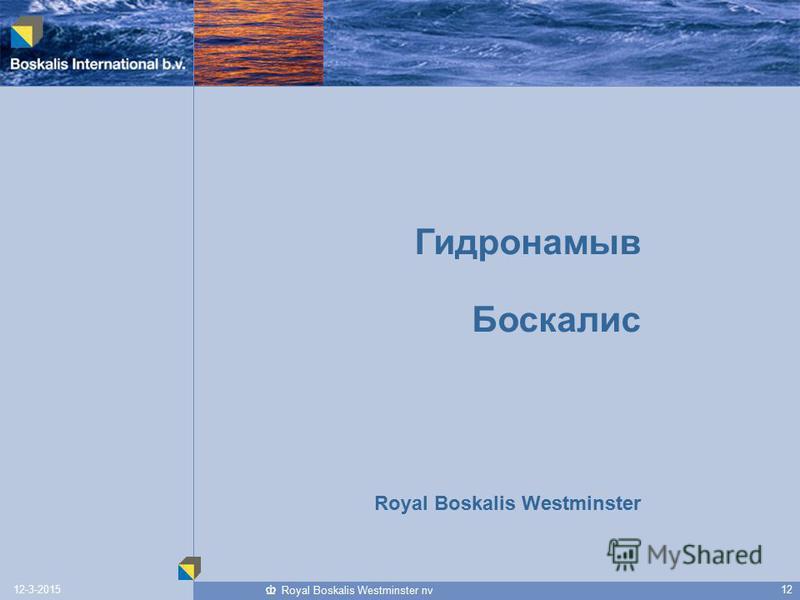 1212-3-2015 Royal Boskalis Westminster nv Гидронамыв Боскалис Royal Boskalis Westminster