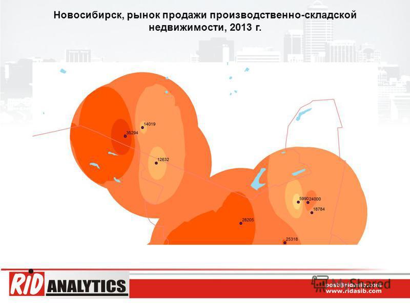 Новосибирск, рынок продажи производственно-складской недвижимости, 2013 г.
